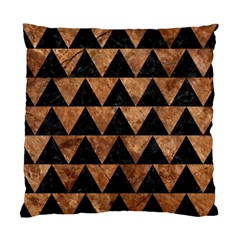 Triangle2 Black Marble & Brown Stone Standard Cushion Case (two Sides) by trendistuff