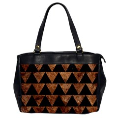 Triangle2 Black Marble & Brown Stone Oversize Office Handbag by trendistuff