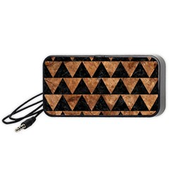 Triangle2 Black Marble & Brown Stone Portable Speaker (black) by trendistuff
