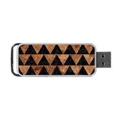 Triangle2 Black Marble & Brown Stone Portable Usb Flash (two Sides) by trendistuff