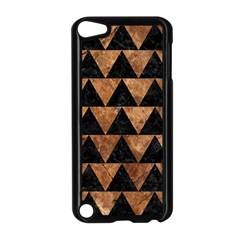Triangle2 Black Marble & Brown Stone Apple Ipod Touch 5 Case (black) by trendistuff