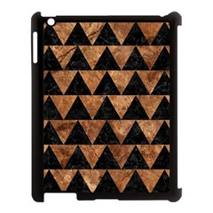 Triangle2 Black Marble & Brown Stone Apple Ipad 3/4 Case (black) by trendistuff