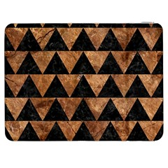 Triangle2 Black Marble & Brown Stone Samsung Galaxy Tab 7  P1000 Flip Case by trendistuff