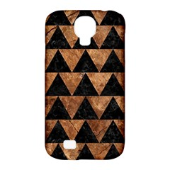 Triangle2 Black Marble & Brown Stone Samsung Galaxy S4 Classic Hardshell Case (pc+silicone) by trendistuff