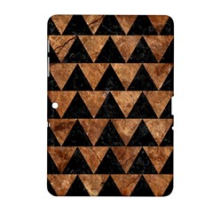 Triangle2 Black Marble & Brown Stone Samsung Galaxy Tab 2 (10 1 ) P5100 Hardshell Case  by trendistuff