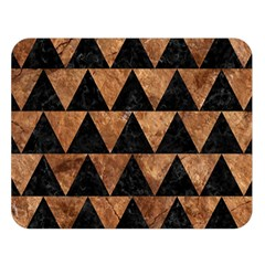 Triangle2 Black Marble & Brown Stone Double Sided Flano Blanket (large) by trendistuff