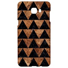 Triangle2 Black Marble & Brown Stone Samsung C9 Pro Hardshell Case  by trendistuff