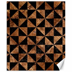 Triangle1 Black Marble & Brown Stone Canvas 8  X 10  by trendistuff