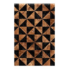 Triangle1 Black Marble & Brown Stone Shower Curtain 48  X 72  (small) by trendistuff