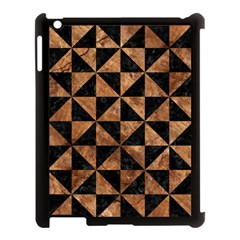 Triangle1 Black Marble & Brown Stone Apple Ipad 3/4 Case (black) by trendistuff