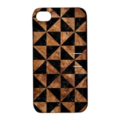 Triangle1 Black Marble & Brown Stone Apple Iphone 4/4s Hardshell Case With Stand by trendistuff