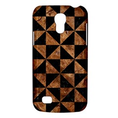 Triangle1 Black Marble & Brown Stone Samsung Galaxy S4 Mini (gt I9190) Hardshell Case  by trendistuff