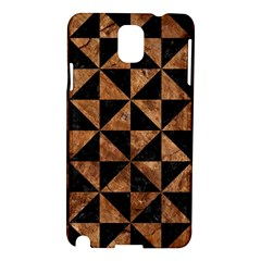 Triangle1 Black Marble & Brown Stone Samsung Galaxy Note 3 N9005 Hardshell Case by trendistuff