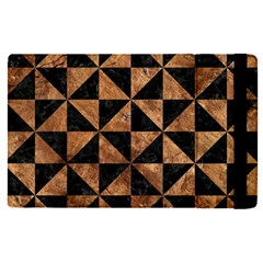 Triangle1 Black Marble & Brown Stone Apple Ipad Pro 12 9   Flip Case by trendistuff