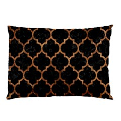Tile1 Black Marble & Brown Stone Pillow Case (two Sides) by trendistuff
