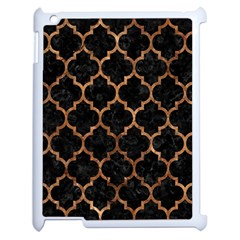 Tile1 Black Marble & Brown Stone Apple Ipad 2 Case (white) by trendistuff