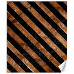 Stripes3 Black Marble & Brown Stone (r) Canvas 20  X 24  by trendistuff