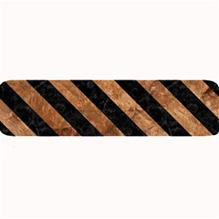 Stripes3 Black Marble & Brown Stone (r) Large Bar Mat by trendistuff