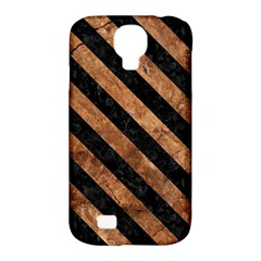 Stripes3 Black Marble & Brown Stone (r) Samsung Galaxy S4 Classic Hardshell Case (pc+silicone) by trendistuff