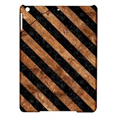 Stripes3 Black Marble & Brown Stone (r) Apple Ipad Air Hardshell Case by trendistuff