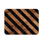 STRIPES3 BLACK MARBLE & BROWN STONE (R) Double Sided Flano Blanket (Mini) 35 x27  Blanket Back