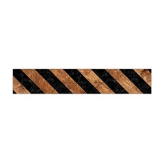 Stripes3 Black Marble & Brown Stone (r) Flano Scarf (mini) by trendistuff