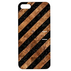 Stripes3 Black Marble & Brown Stone Apple Iphone 5 Hardshell Case With Stand by trendistuff
