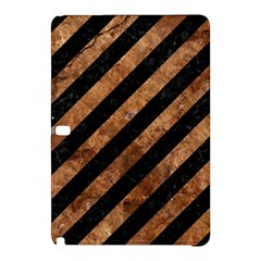 Stripes3 Black Marble & Brown Stone Samsung Galaxy Tab Pro 12 2 Hardshell Case by trendistuff