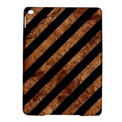 Stripes3 Black Marble & Brown Stone Apple Ipad Air 2 Hardshell Case by trendistuff
