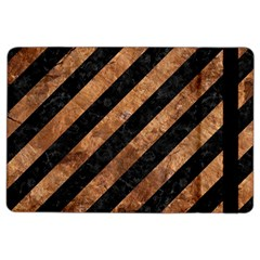 Stripes3 Black Marble & Brown Stone Apple Ipad Air 2 Flip Case by trendistuff