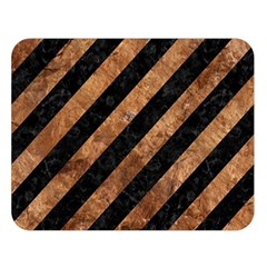 Stripes3 Black Marble & Brown Stone Double Sided Flano Blanket (large) by trendistuff