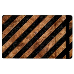 Stripes3 Black Marble & Brown Stone Apple Ipad Pro 12 9   Flip Case by trendistuff