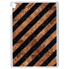 Stripes3 Black Marble & Brown Stone Apple Ipad Pro 9 7   White Seamless Case by trendistuff
