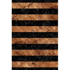 Stripes2 Black Marble & Brown Stone 5 5  X 8 5  Notebook by trendistuff