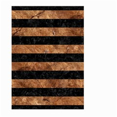 Stripes2 Black Marble & Brown Stone Large Garden Flag (two Sides) by trendistuff