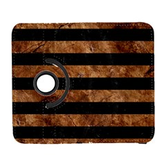Stripes2 Black Marble & Brown Stone Samsung Galaxy S  Iii Flip 360 Case by trendistuff
