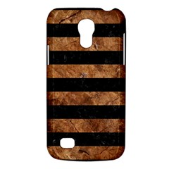Stripes2 Black Marble & Brown Stone Samsung Galaxy S4 Mini (gt I9190) Hardshell Case  by trendistuff
