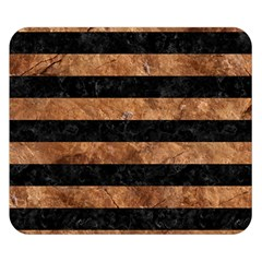 Stripes2 Black Marble & Brown Stone Double Sided Flano Blanket (small) by trendistuff