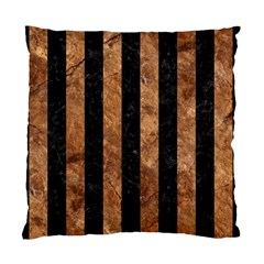 Stripes1 Black Marble & Brown Stone Standard Cushion Case (one Side) by trendistuff
