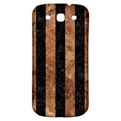 Stripes1 Black Marble & Brown Stone Samsung Galaxy S3 S Iii Classic Hardshell Back Case by trendistuff