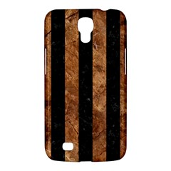 Stripes1 Black Marble & Brown Stone Samsung Galaxy Mega 6 3  I9200 Hardshell Case by trendistuff