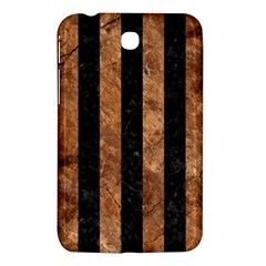 Stripes1 Black Marble & Brown Stone Samsung Galaxy Tab 3 (7 ) P3200 Hardshell Case  by trendistuff