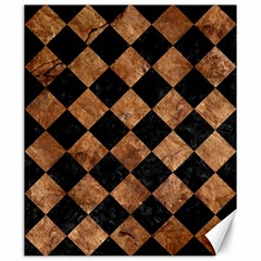 Square2 Black Marble & Brown Stone Canvas 20  X 24  by trendistuff