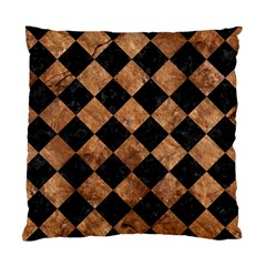 Square2 Black Marble & Brown Stone Standard Cushion Case (two Sides) by trendistuff