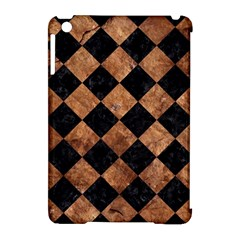 Square2 Black Marble & Brown Stone Apple Ipad Mini Hardshell Case (compatible With Smart Cover) by trendistuff