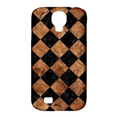 Square2 Black Marble & Brown Stone Samsung Galaxy S4 Classic Hardshell Case (pc+silicone) by trendistuff