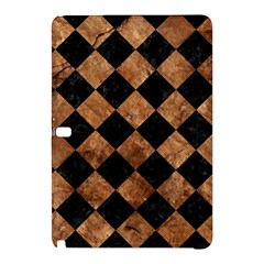 Square2 Black Marble & Brown Stone Samsung Galaxy Tab Pro 10 1 Hardshell Case by trendistuff