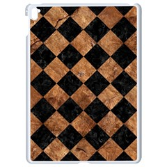 Square2 Black Marble & Brown Stone Apple Ipad Pro 9 7   White Seamless Case by trendistuff