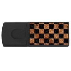 Square1 Black Marble & Brown Stone Usb Flash Drive Rectangular (4 Gb) by trendistuff