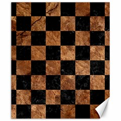 Square1 Black Marble & Brown Stone Canvas 20  X 24  by trendistuff